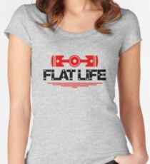 Flat Life (5) Women's Fitted Scoop T-Shirt