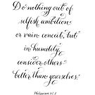 Consider others Better inspirational verse by Melissa Goza