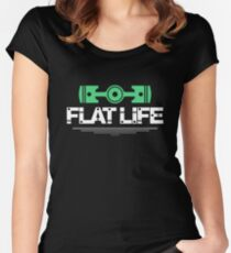 Flat Life (7) Women's Fitted Scoop T-Shirt