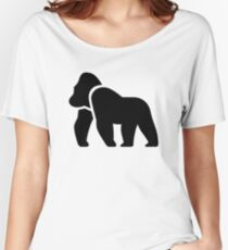 Gorilla Silhouette Women's Relaxed Fit T-Shirt