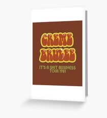 CREME BRULEE Greeting Card