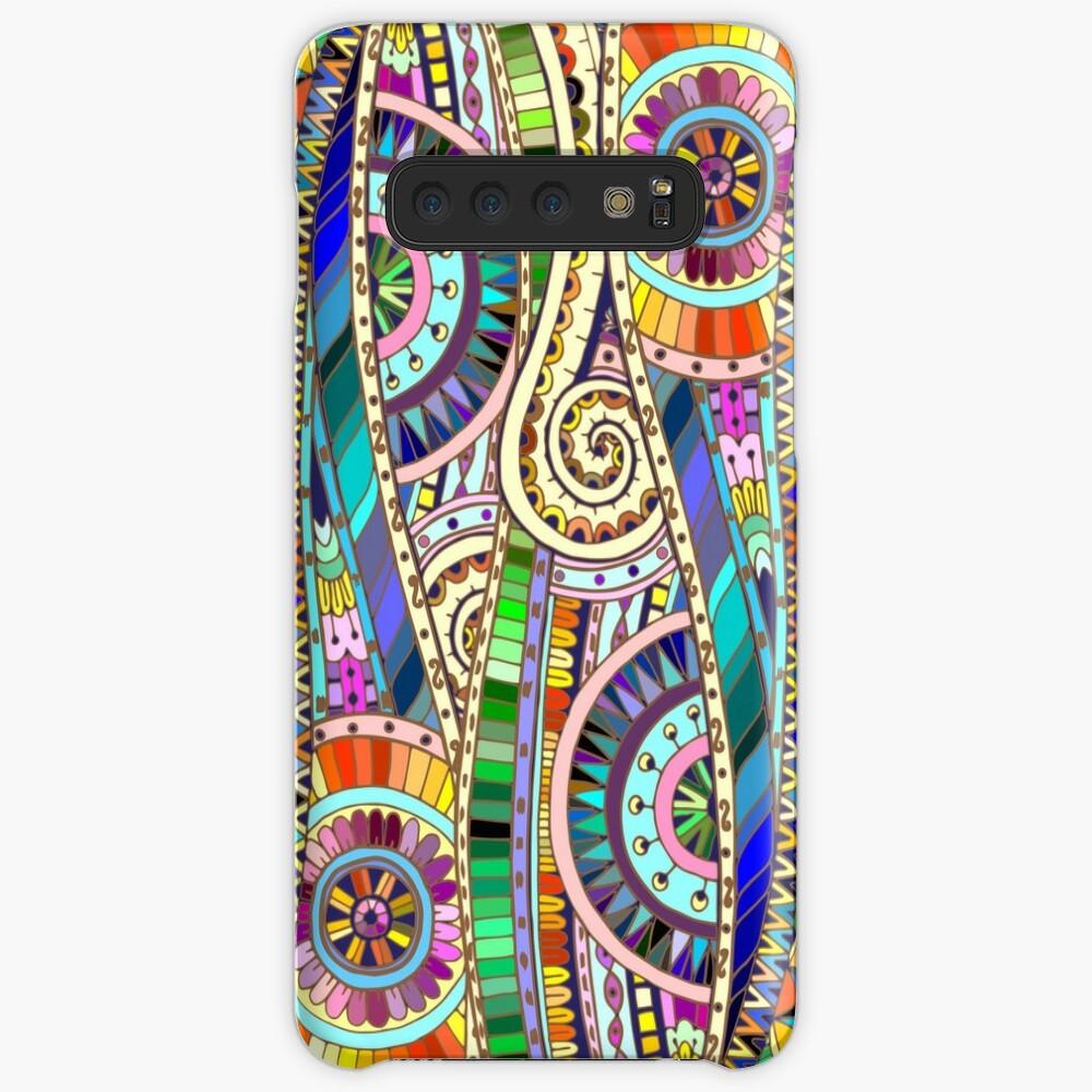 Abstract mosaic rainbow flowers Funda y vinilo para Samsung Galaxy
