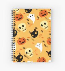 Halloween Pattern! Spiral Notebook