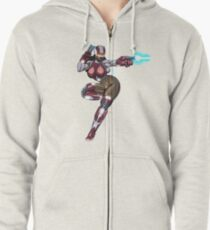 Sexy Space Fighter Zipped Hoodie