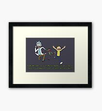 Rick and Morty – Looks Like an '80s Knockoff Framed Print