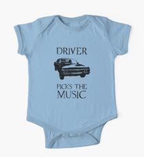 Driver picks the music (Supernatural) One Piece - Short Sleeve