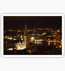 Cork at Night Sticker