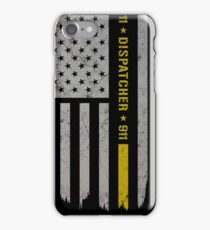 911 Dispatcher Thin Gold Line iPhone Case/Skin