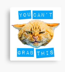 You Can't Grab this! Canvas Print