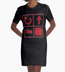 Turn Up the Radio Grid Graphic T-Shirt Dress