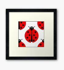 Seamles Ladybug Framed Print