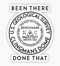 CLINGMANS DOME NORTH CAROLINA GREAT SMOKY MOUNTAINS NATIONAL PARK GEOCACHING APPALACHIAN TRAIL BENCHMARK BENCH MARK Sticker