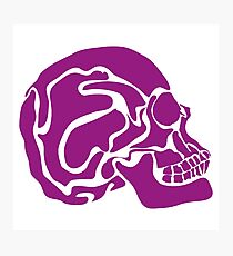 stylized colored human skull Photographic Print