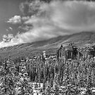 Castle among the Clouds in grey (2) by James Anderson