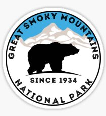 GREAT SMOKY MOUNTAINS NATIONAL PARK TENNESSEE NORTH CAROLINA GATLINBURG Sticker