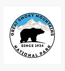 GREAT SMOKY MOUNTAINS NATIONAL PARK TENNESSEE NORTH CAROLINA GATLINBURG Photographic Print