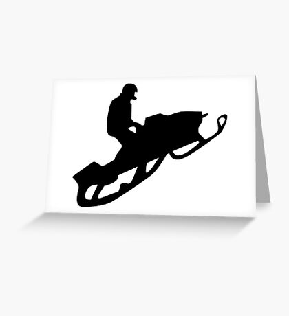 snowmobile : silhouettes Greeting Card