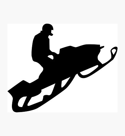 snowmobile : silhouettes Photographic Print