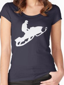 snowmobile : silhouettes Women's Fitted Scoop T-Shirt