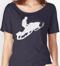 snowmobile : silhouettes Women's Relaxed Fit T-Shirt