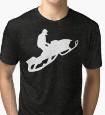 snowmobile : silhouettes Tri-blend T-Shirt