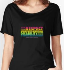 Rainbow Word Cloud Women's Relaxed Fit T-Shirt