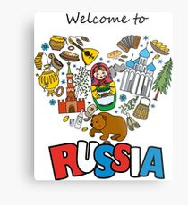 Welcome to Russia. Russian symbols, travel Russia Metal Print