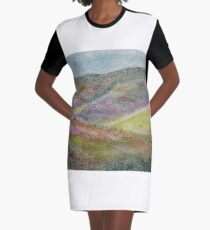 The Colored Sea Graphic T-Shirt Dress