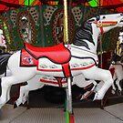 Razorback Carousel  Horse by WildestArt
