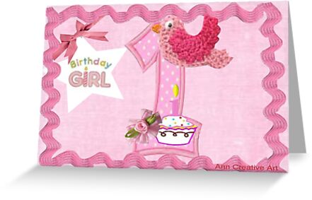 First Birthday Card by Ann12art