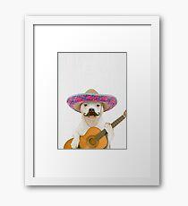 Dog Guitarist Framed Print