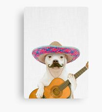 Dog Guitarist Canvas Print
