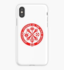 Certified By The Guild of Hunters RED iPhone Case