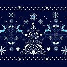 Christmas Holiday pattern design by walstraasart