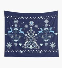 Christmas Holiday pattern design Wall Tapestry