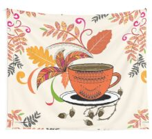 Autumn Hello October Wall Tapestry