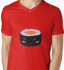 Kawaii Sushi with Salmon Mens V-Neck T-Shirt