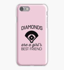 Diamonds are a girl's best friend (Baseball Diamonds!) iPhone Case/Skin