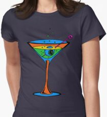 Eyeball Martini Macabre Humor T-Shirt