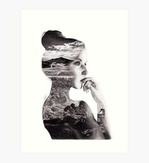 Double Exposure Art Print