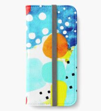 Marine Blue and White Abstract Art iPhone Wallet/Case/Skin