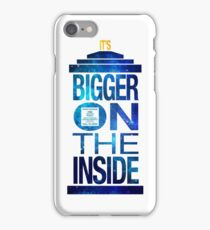 It's Bigger on the Inside - Tardis Galaxy iPhone Case/Skin
