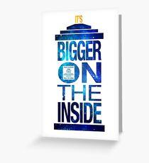 It's Bigger on the Inside - Tardis Galaxy Greeting Card