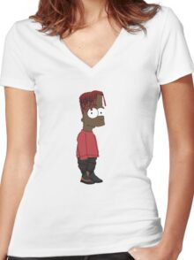 Lil Yachty / Lilboat / lil boat - Bart / Shirt , Phone case, Sticker Women's Fitted V-Neck T-Shirt