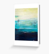 Contemporary mid-century abstract  Greeting Card