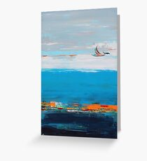 Freedom contemporary abstract art Greeting Card