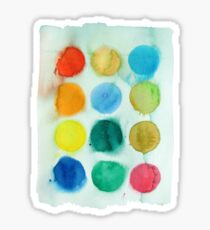 Watercolour Paints 1 Sticker
