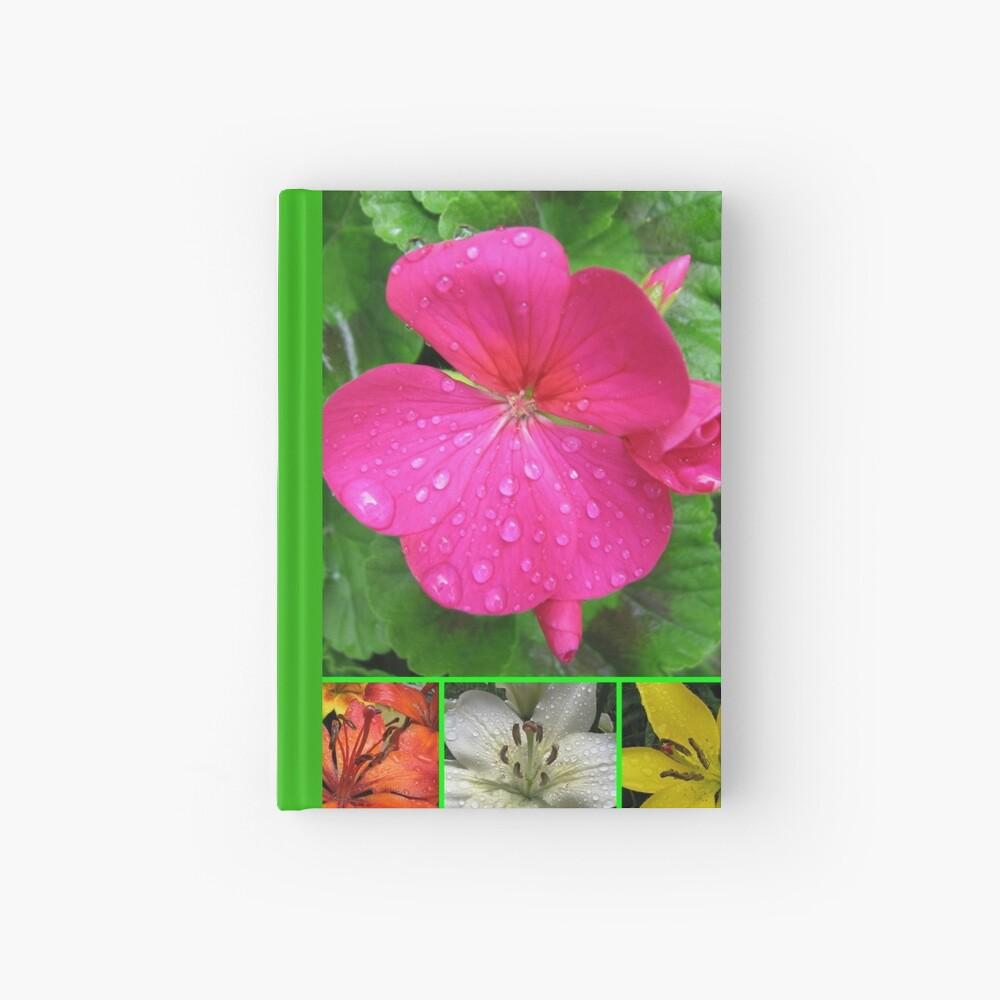 Raindrops On Petals Collage Notizbuch