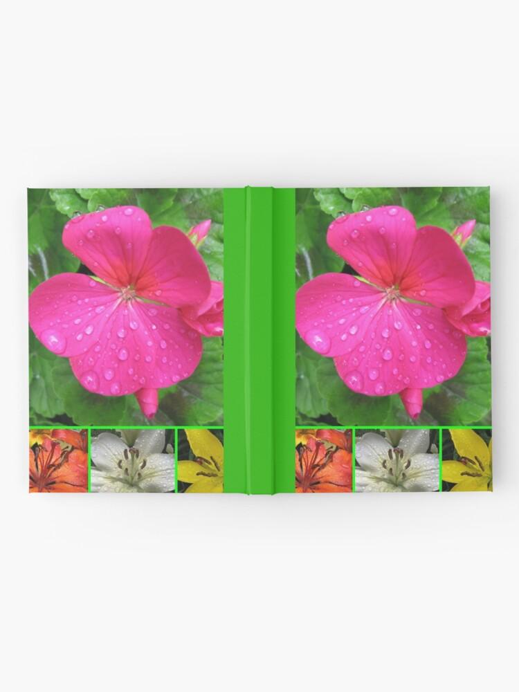 Alternative Ansicht von Raindrops On Petals Collage Notizbuch
