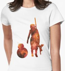 The Droid & The Girl with the Staff Women's Fitted T-Shirt